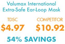 Extra-Safe Ear-Loop Mask